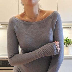 Lululemon long knit top with thumbholes